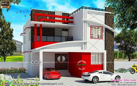 Modern South Indian Elevation Design