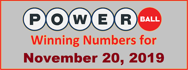 PowerBall Winning Numbers for Wednesday, November 20, 2019
