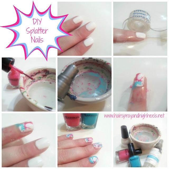 DIY Splatter Nails