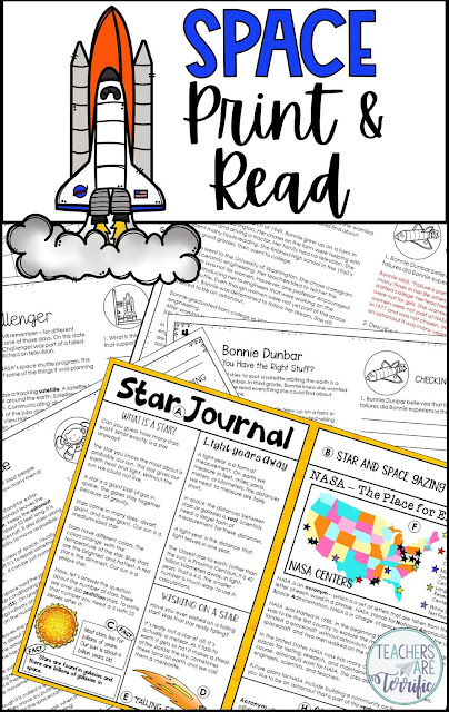 This Space Print and Read set is fabulous for having students reading in a matter of minutes. These reading comprehension sheets with informational text are great in so many ways. Just print and read!