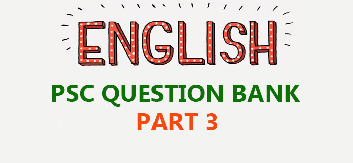 PSC General English Questions Part 3
