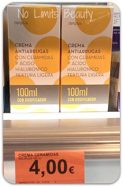 Crema antiarrugas con ceramidas y ácido hialurónico de Deliplús