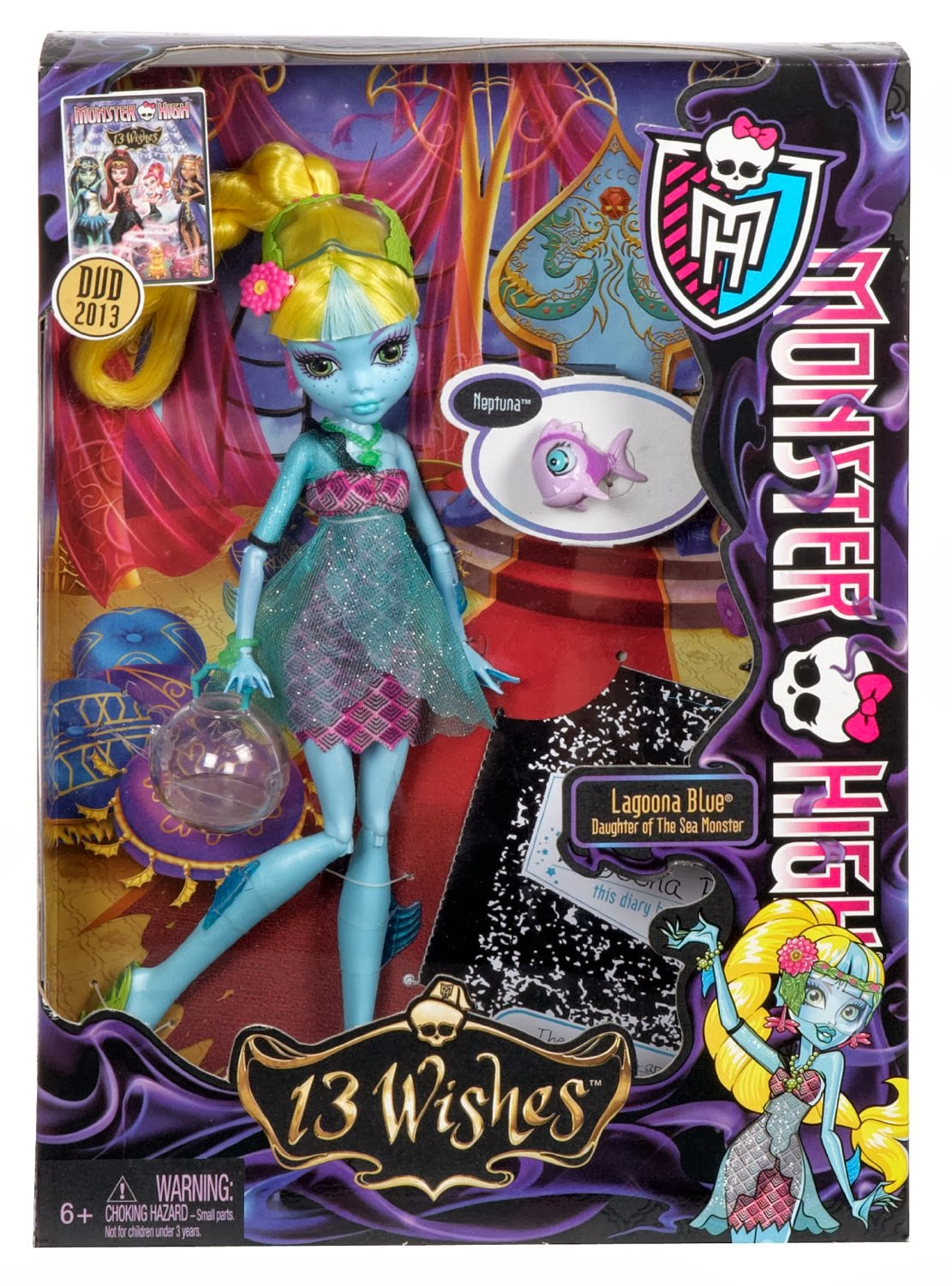 DISPONIBLE AMAZON.ES: Monster High - Muñeca Lagoona Blue 13 Wishes