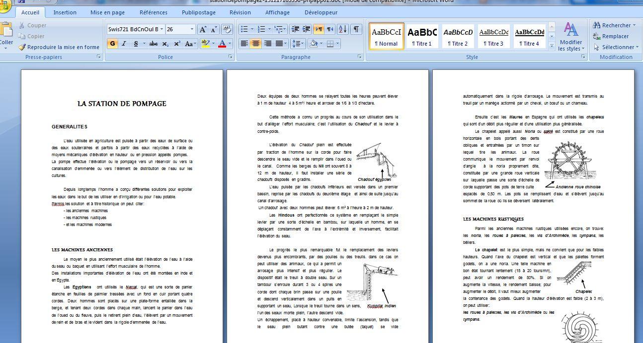 Cours de station de pompage 2 pdf cours assainissement for Assainissement cours pdf