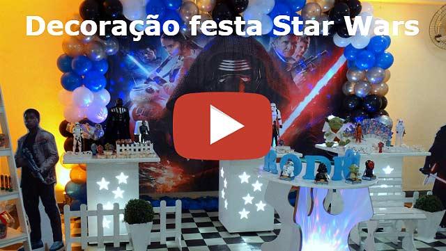 Decoração de aniversário tema Star Wars