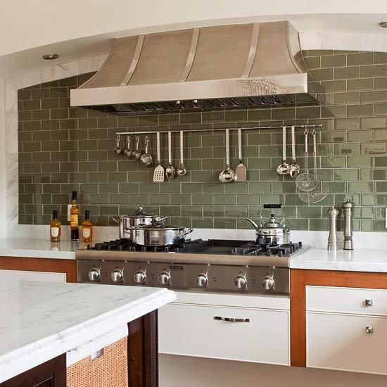 Green Kitchen Tiles Design