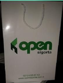 open sigorta için kağıt poşet