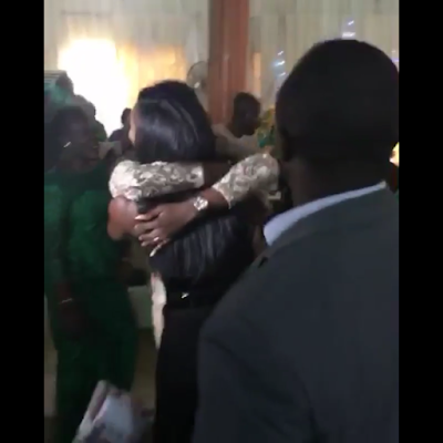 Vocalist Tiwa Savage showed up at one of her dedicated fans' wedding yesterday April 23rd