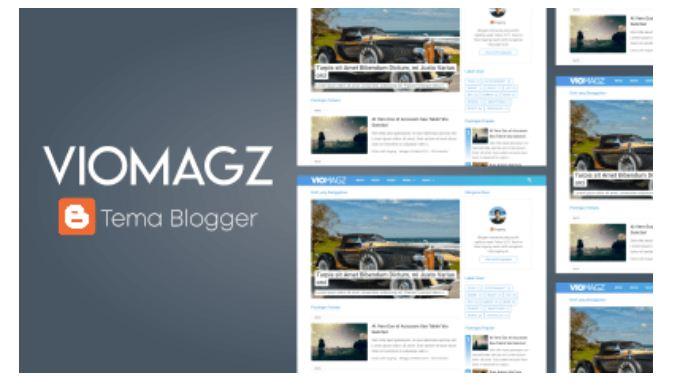 VioMagz Premium Blogger Template
