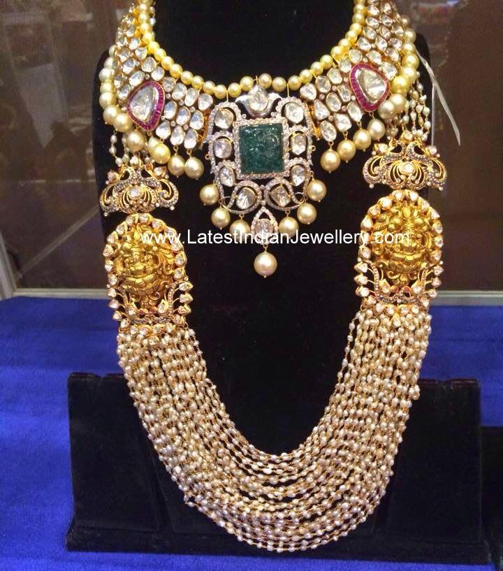 Polki Jewellery And Bridal Pearl Mala Latest Indian