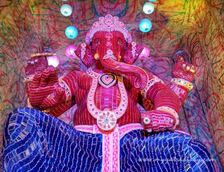 Amazing Ganpati made of pencils, Ganesh Chaturthi festival, Shankar lane Mumbai