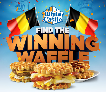 White Castle wants you to find the winning waffle! Play their instant win game each day to win free waffles or even a trip to Brussels in Belgium!