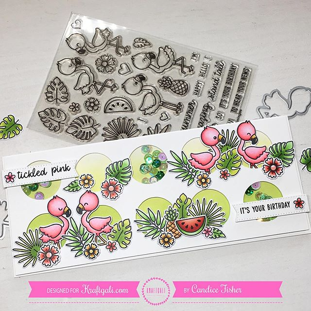 Sunny Studio Stamps: Fabulous Flamingos Customer Card by Candice Fisher