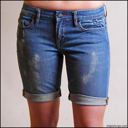 Live. Love. Laugh. Write. Repeat.: DIY Long Jean Shorts