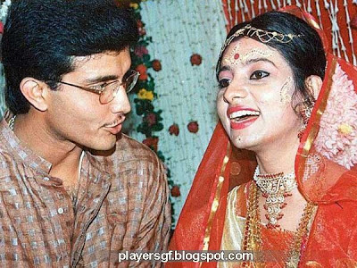 Sourav  Ganguly and his wife Dona in marriage ceremony