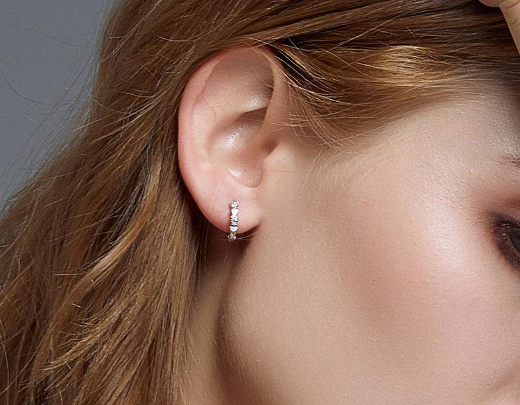 美好時光 925純銀愛心耳環