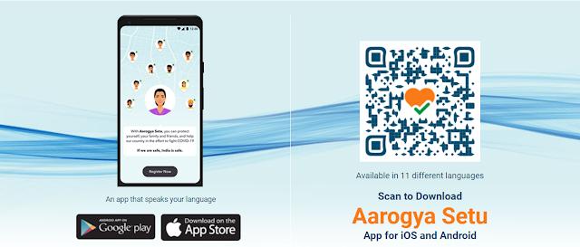 scan and download aarogya setu