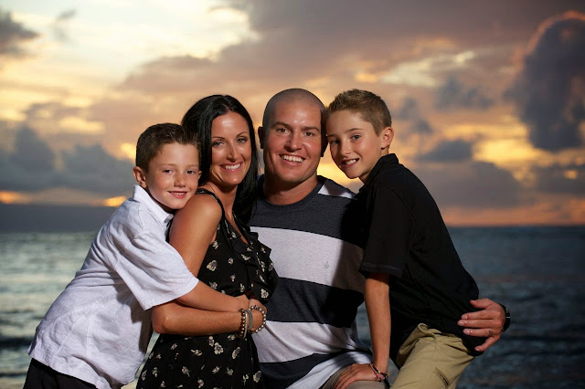 maui sunset family portrait photography