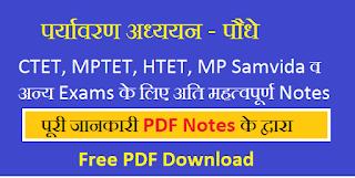 CTET UPTET पर्यावरण अध्ययन Notes PDF Download