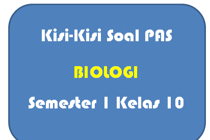 Kisi-Kisi Soal PAS Biologi Kelas 10