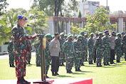 TNI dan Polri di Sulut Siap Cegah Covid-19 Melalui Pelaksanaan Operasi Gaktib dan Yustisi 2021