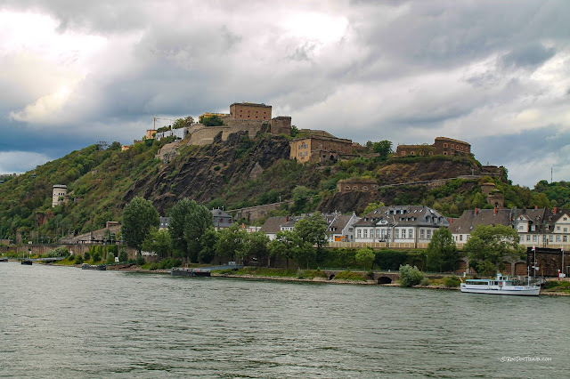 Middle Rhine River Germany geology cruise trip Bacharach castles history Remagen copyright RocDocTravel.com