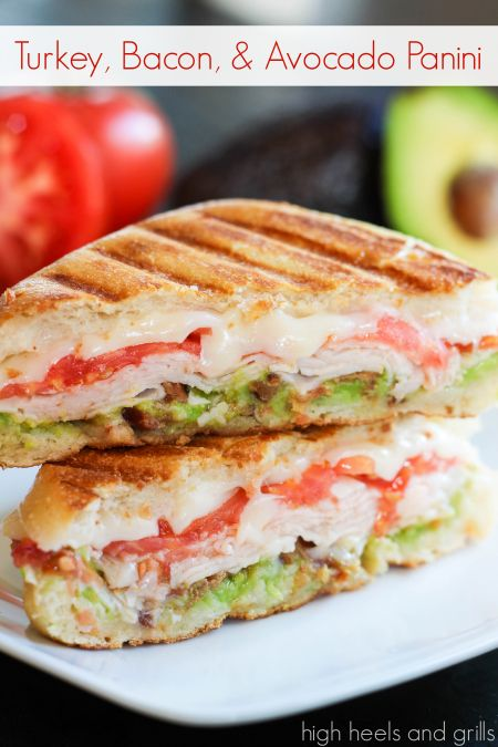 TURKEY, BACON, AND AVOCADO PANINI #recipes #lunchrecipes #food #foodporn #healthy #yummy #instafood #foodie #delicious #dinner #breakfast #dessert #lunch #vegan #cake #eatclean #homemade #diet #healthyfood #cleaneating #foodstagram