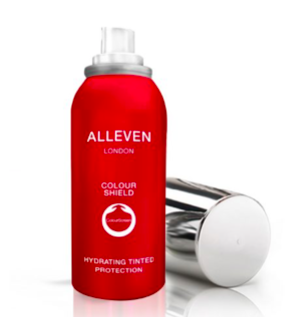Alleven Hydrating tinted protection spray with Olivia Falcon, founder of the editors list in London England