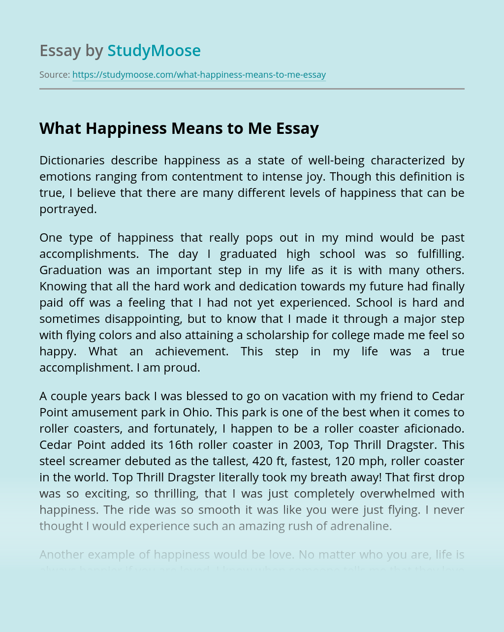 Definition Essay: Happiness | blogger.com