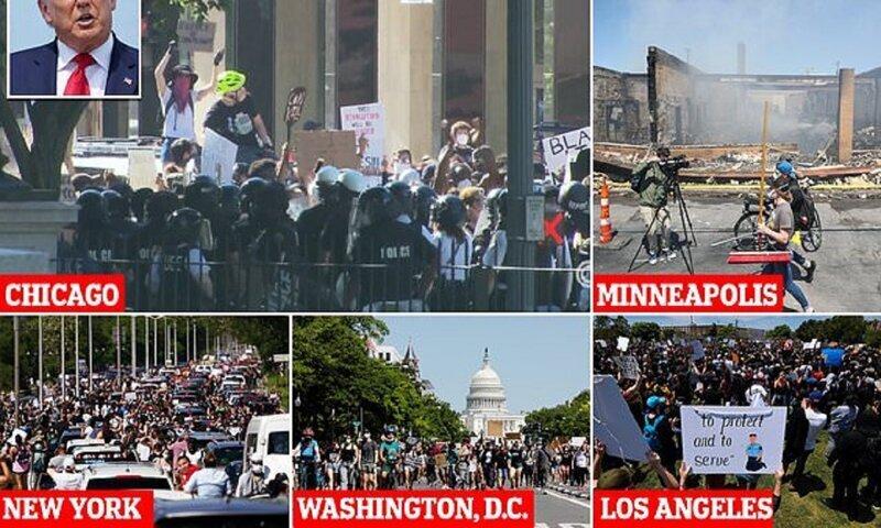 Estados Unidos está sumergido en protestas