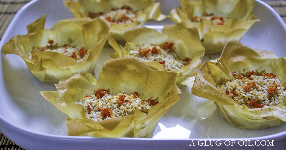 Prawn and Spring Onion Tartlets with Coconut and Chilli