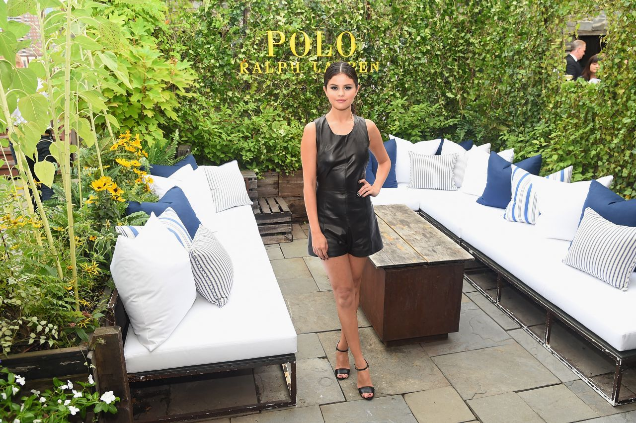 Selena Gomez – Polo Ralph Lauren Spring 2016 Fashion Show in New York City