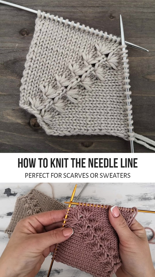 How To Knit The Needle Line - Tutorial