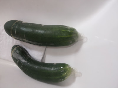 Cucumber in a condom by wives connection