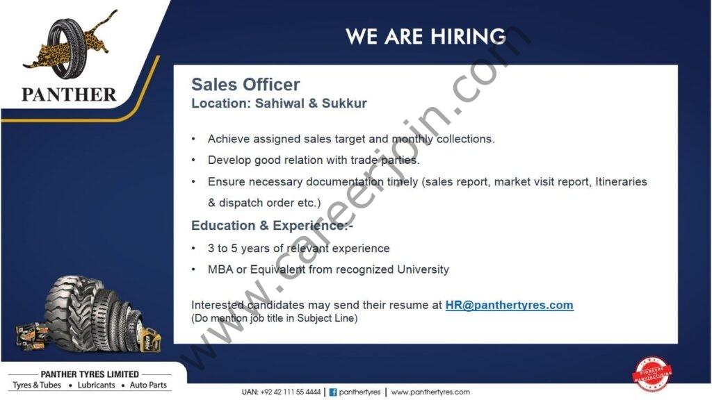 Jobs in Panther Tyres Ltd