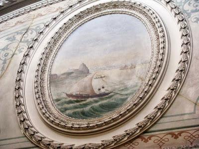 pintura com paisagem do Rio de Janeiro numa decoração de interior