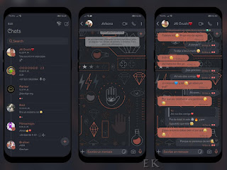 Dark Pattern Theme For YOWhatsApp & RA WhatsApp By Ethel