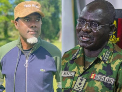 Reno Omokri dares General Buratai to a physical combat without weapons