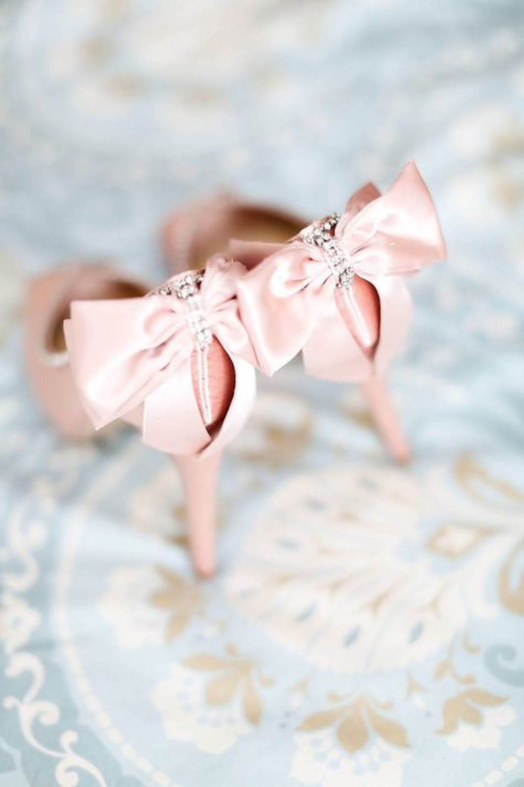 beautiful blush toned wedding shoes