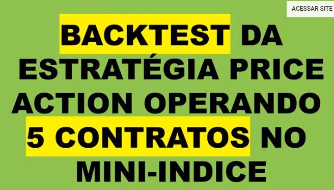 Backtest da Estratégia de Price Action Operando com 5 Contratos no Mini Indice WIN