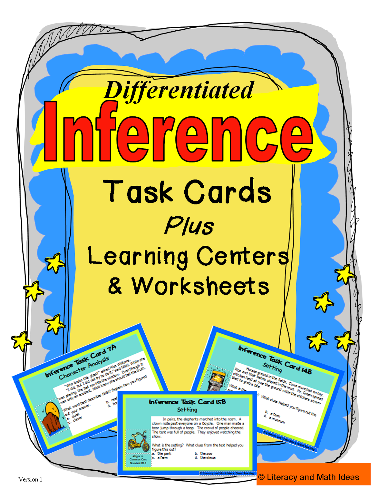 Literacy Amp Math Ideas Inference Learning Center Games And