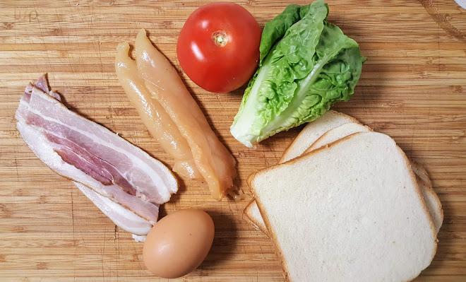 Ingrédients pour un Club Sandwich