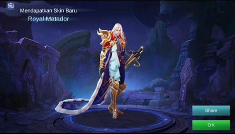 Script Skin Lancelot EPIC Royal Matador ML