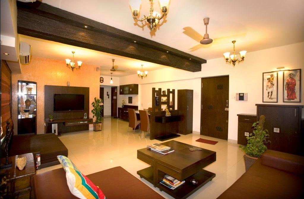 Wooden Finish Living Room - Freshnist Design