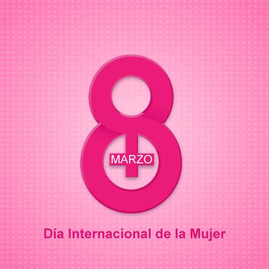 Simple 8 Marzo Día Internacional de la Mujer