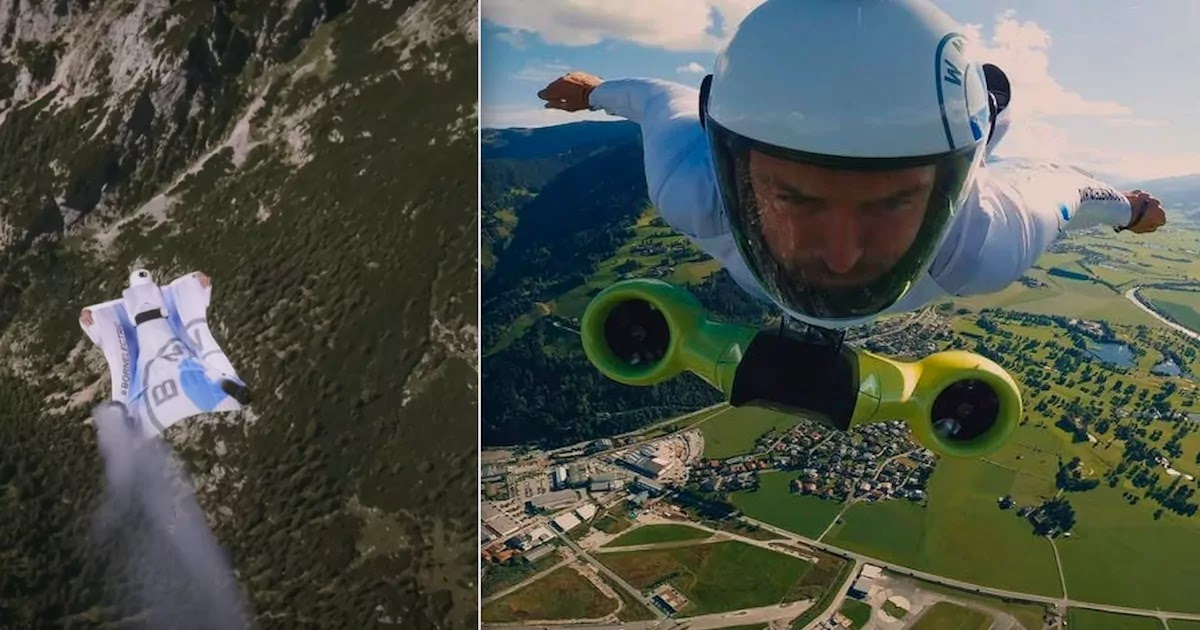 New BMW Electric Wingsuit Flying At 186mph Is Tested Over The Austrian Alps
