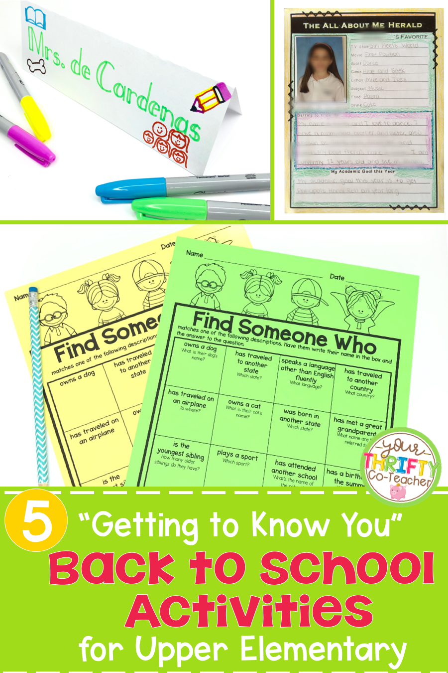 Back to School Activities - Your Thrifty Co-Teacher
