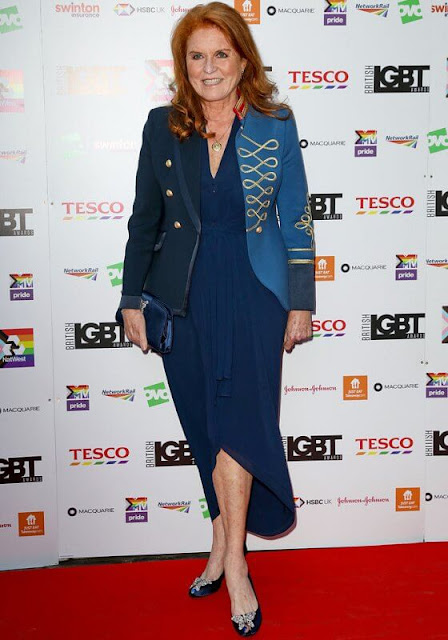 Sarah Ferguson wore a military-jacket from The Extreme Collection. Sarah, Duchess of York wore a Elisabeth military blazer by The Extreme Collection