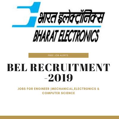 """BEL Recruitment 2019"""