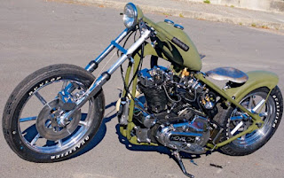 rockstar sportster xlch rigid frame green 1970